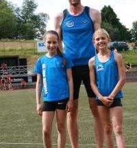 Läufertag in Ewersbach 2021 - Christoph, Lara und Margarete laufen Bestzeiten