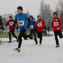 Adventscross Pfungstadt - gelungene Läufe im Schneegestöber