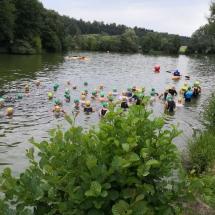Triathlon Burgwald - Thorsten und Jakob betreten Neuland