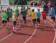 Bahnlauf Breidenbach - drei zufriedene VfLer im Hinterland