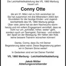 Nachruf Conny Otte